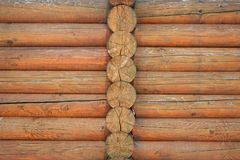 Brown wood log house texture as a surface background. Brown wood log house texture as a surface background Royalty Free Stock Image
