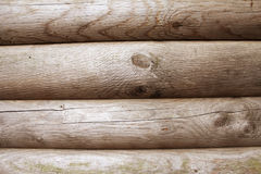 Brown wood logs as a background. Image Royalty Free Stock Photos