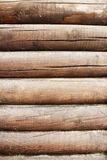 Brown wood logs as a background. Image Royalty Free Stock Image