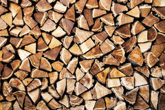 Wood logs natural background Stock Photos