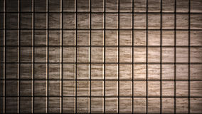 Brown wood material cubes background Stock Photography