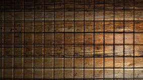 Brown wood material cubes background. 3d render Royalty Free Stock Photos