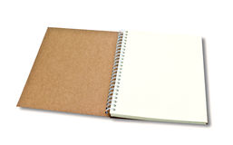 Brown wood note book isolated with shadow Stock Photography