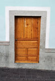 A brown wood old door Stock Photography