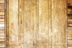 A brown wood old door Royalty Free Stock Images