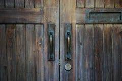 Brown wood old door Royalty Free Stock Photo