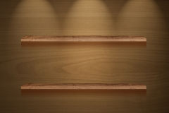 Brown wood panel lighting Royalty Free Stock Photo