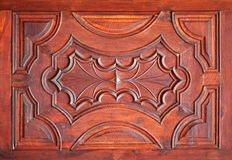 Brown wood panel Royalty Free Stock Image