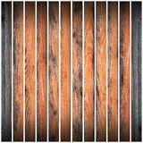 Brown wood parallel  planks Royalty Free Stock Photo