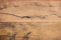Brown wood plank with gnarl Royalty Free Stock Photo