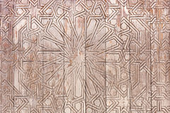 Brown wood plank wall and carved on wood texture background Stock Photography