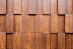 Brown wood plank wall panel Stock Photography