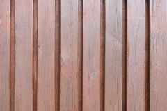 Brown wood plank wall stock photo