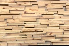 Brown wood plank wall texture background. Close up stock photo