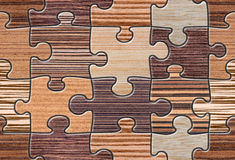 Brown Wood Puzzle Mosaic Seamless Royalty Free Stock Photo