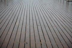 Brown wood in rain texture Stock Image