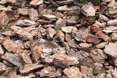 Brown wood shavings, wood chips background. Closedup. Brown wood shavings, wood chips background stock image