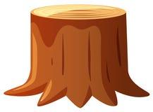 Brown wood stem on white background. Illustration Stock Photo