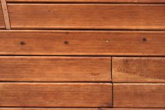 Brown  Wood Terrace Decking Textured Background Royalty Free Stock Photos