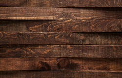 Brown wood texture. Background dark old wooden panels. Royalty Free Stock Photos