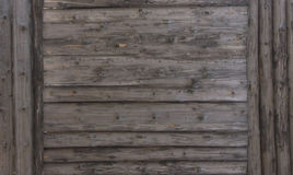 Brown wood texture. background old panels with brown Large wooden shield, billboard Royalty Free Stock Photography
