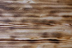Brown wood texture, panel. Horizontal stripe vector illustration