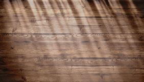 Brown Wood Texture With Bright Sunlight, Old Wall Background. Top View Of Wooden Table. Texture Of Old Top Table, Grunge Royalty Free Stock Images