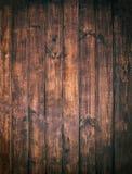 Brown wooden background. Old vintage  texture of bark wood, tabl Stock Images
