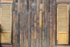 Brown wooden background. The brown wall and windows made from wooden Royalty Free Stock Photos