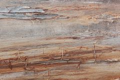 Brown wooden backgtound. Detailed texture. Brown texture wooden , detailed background. Wood plank fence close up. Natural dark wooden table, floor, desk. Empty Stock Photography