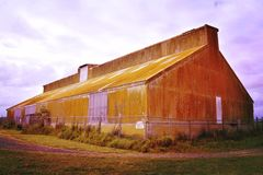 Brown Wooden Barn House Royalty Free Stock Photos