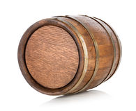 Brown wooden barrel Stock Photo