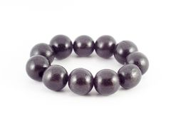 Brown wooden beads bracelet Royalty Free Stock Images