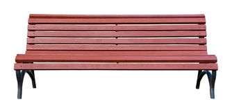 Brown wooden bench isolated on a white. Background Royalty Free Stock Image