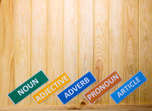 Brown wooden board for background Royalty Free Stock Image