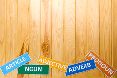 Brown wooden board for background Royalty Free Stock Photography