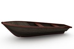 Brown wooden boat with shadow Royalty Free Stock Image