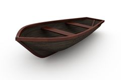 Brown wooden boat with shadow Stock Photos