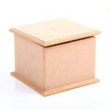 Brown wooden box Stock Photography