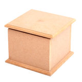 Brown wooden box Royalty Free Stock Image