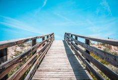Brown Wooden Bridge royalty free stock photos