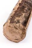 Brown wooden briquette Stock Images