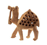Brown wooden camel Royalty Free Stock Image