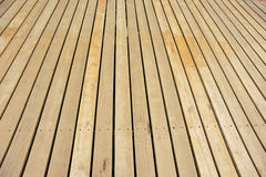 Brown wooden deck Stock Photos