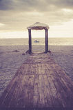 Brown Wooden Dock and White Canopy Tent Near Body of Water Stock Photos