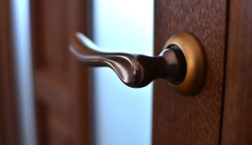 Bronze door knob close-up royalty free stock photography