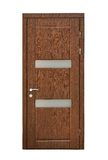 Brown wooden door Stock Images