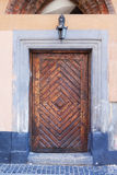 Brown wooden door Stock Photos