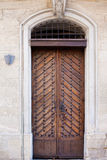 Brown wooden door Royalty Free Stock Photo