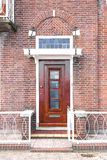 Brown wooden door Stock Photography